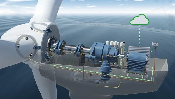 Nel caso del Condition Monitoring, sull'azionamento dell'impianto a energia eolica, sono installati sette sensori di accelerazione.