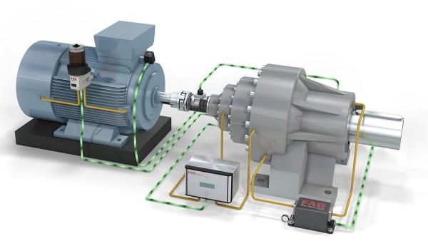 """Il simulatore di tecnologia """"Linea di trasmissione 4.0"""" Schaeffler mostra soluzioni per la produzione e il monitoraggio delle macchine sotto forma digitale."""