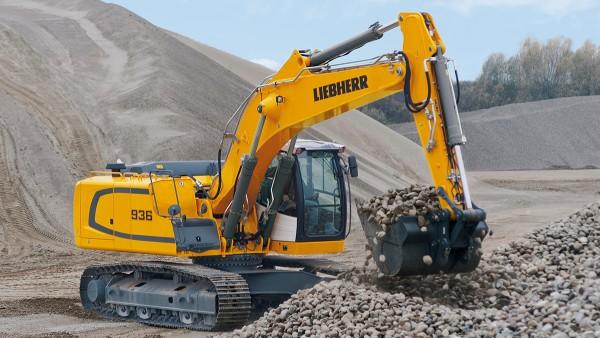 Le macchine edili, come ad esempio gli escavatori cingolati, richiedono i cuscinetti più diversi.