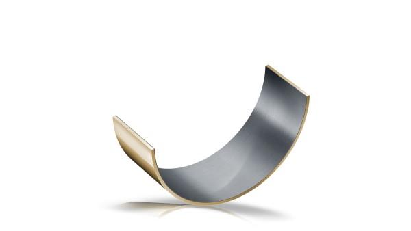 Cuscinetto a strisciamento in composito metallo-polimero, semicuscinetto