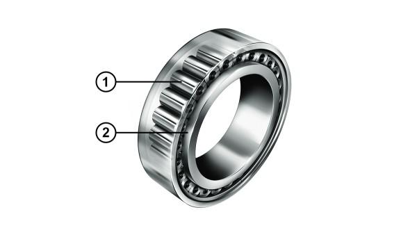 Cuscinetti a rulli cilindrici INA con contatto con il bordo ottimizzato