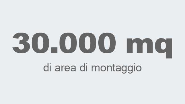 30.000 mq di area di montaggio