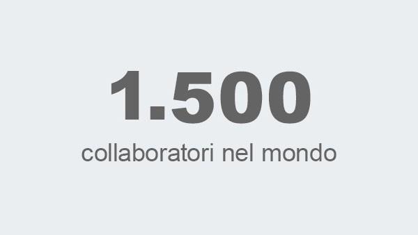 1.700 collaboratori nel mondo