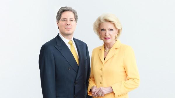 L'imprenditrice Maria-Elisabeth Schaeffler-Thumann e suo figlio Georg F. W. Schaeffler